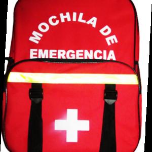 MOCHILA DE EMERGENCIA ROJA 45x34x9cm